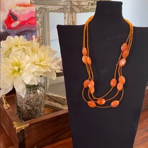 !!!Fashion Jewelry Necklace Orange